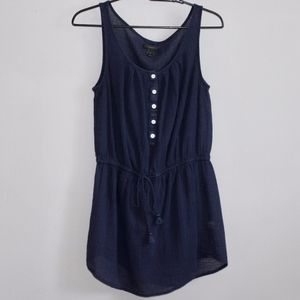 J.Crew Navy Blue Sleeveless Shirt Dress